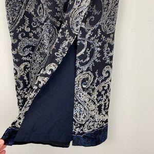 Harold's Skirts - Harolds Silk Maxi Skirt paisley